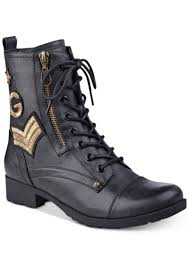 g womens boots sale guess g by guess bronson lace up combat boots s shoes