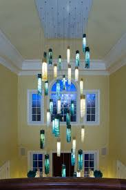 Entry Chandelier Tanzania Custom Fused Glass Entry Chandelier Traditional