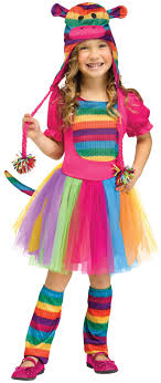 sock monkey costume rainbow sock monkey costume for toddlers buycostumes