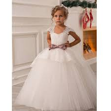 flower girl dresses aliexpress buy fashion flower girl dresses with sash bow cap