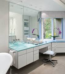 modern bathroom furniture trend and ideas house trendy glass cabinet and countertops furniture for modern bathroom image