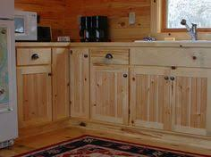 Southern Yellow Pine Kitchen Cabinets CABIN KITCHEN - Rustic pine kitchen cabinets