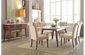elivia marble top dining table set