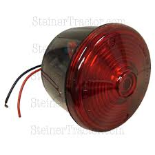 abc548 round red tail light assembly