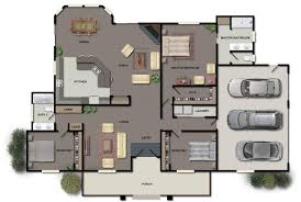 Contemporary One Story House Plans by One Story House Plans Single Story Modern House Floor Plans One