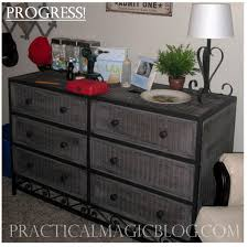 spray painted wicker dresser my style pinterest wicker