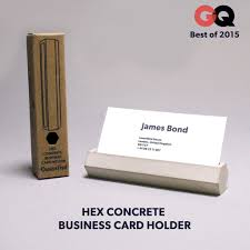 concrete business cards hex concrete business card holder boarding pass nyc