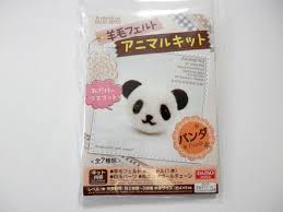 daiso japan diy animal key chain kit of wool felt panda felt