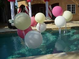 swimming pool decoration by balloons www dreamarkevents com