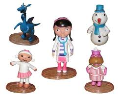 doc mcstuffin cake toppers doc mcstuffins cake topper lambie hallie stuffy chilly 5 figure