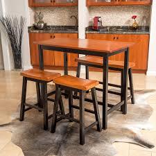 amazon com denise austin home toluca 4 piece wood dining set