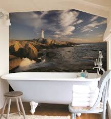 bathroom mural ideas coastal wall treatment ideas for the bathroom murals stripes