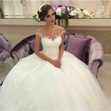 Cheap Online Wedding Dresses Vintage Ball Gown Wedding Dresses 2015 Off The Shoulder Lace Sheer