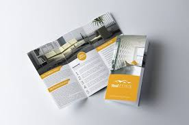 real estate trifold brochure by business flyers on creativemarket