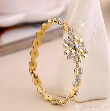 rose gold hand bracelet images 2018 2016 brand new fashion elegant austria crystal double color jpg