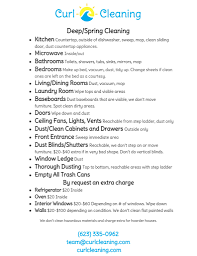 house cleaning checklist curl house cleaning