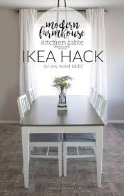 Modern Farmhouse Kitchens by My Modern Farmhouse Kitchen Table Ikea Hack Or Not The