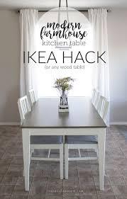 Farmhouse Kitchen Furniture My Modern Farmhouse Kitchen Table Ikea Hack Or Not The