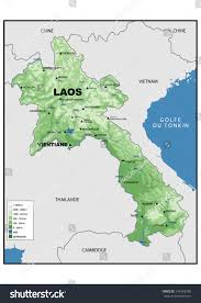 Map Of Laos Physical Map Laos Stock Illustration 149168300 Shutterstock