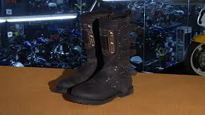 harley riding boots icon one thousand elsinore hp motorcycle boots review youtube