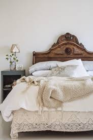 Carved Wood Headboard Antique White Bedroom With Carved Wood Headboard Hupehome