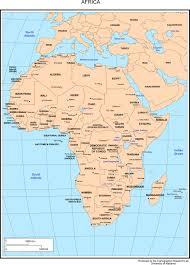 africa map countries and capitals africa map with countries and their capital cities
