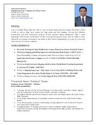 Flight Attendant Resume Objectives Rigging Supervisor Rigging And Lifting Trainer