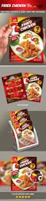 fried chicken flyer u0026 manu card print templates card printing