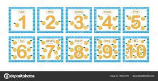 Preferidos Cartões com números de 1 a 10, conjunto. Números de aprendizagem  #IR55