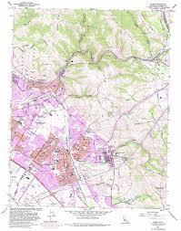 Cupertino Map Niles Topographic Map Ca Usgs Topo Quad 37121e8
