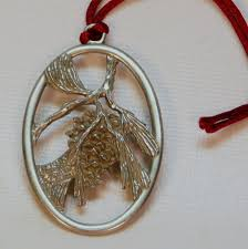 pewter seagull pine cone christmas ornament 1993 canada