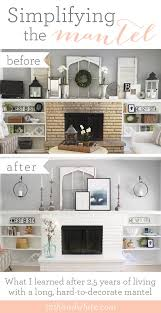 Living Room Mantel Decor 12th And White How To Decorate A Long Mantel A Before And After