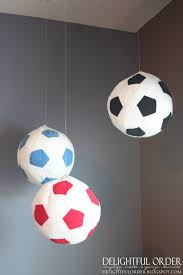 Hanging Decorations For Home by Hanging Soccer Balls From Ikea Use For Table Numbers