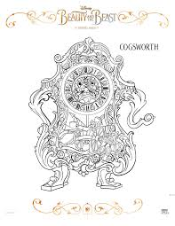 beauty and the beast coloring sheets beourguest beautyandthebeast