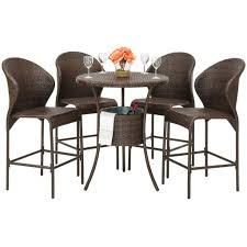 5 piece wicker bar table with ice u2013 best choice products