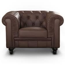 siege capitonné fauteuil chesterfield capitonné marron