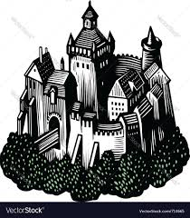 old castle royalty free vector image vectorstock