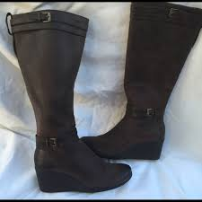 womens wedge boots australia 64 ugg boots ugg australia sz 7 leather boots wedge heel