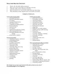 resume exles for high students skills checklist abilities list for resume best resume collection