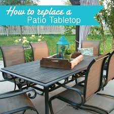 stone patio table top replacement patio table tile inserts granite top patio table and modern style