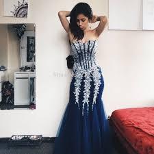 com buy navy blue crystal prom dresses long mermaid sparkly prom