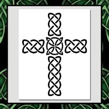 celtic knot cross stencil medieval irish wicca home decorative 2