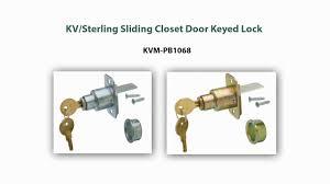 Sliding Closet Door Lock Kv Sterling Pb1068 Sliding Door Lock Demonstration