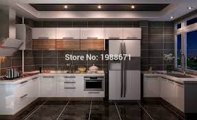 Lacquered Kitchen Cabinets Slab Door Kitchen Cabinets Ambra Truecolor High Gloss White