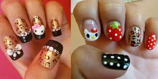 cute and attractive hello kitty nail art designs and stickers