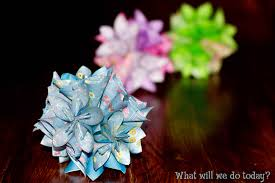 how to make a special origami flower
