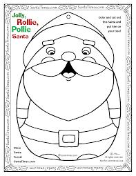 rollie pollie santa coloring color cut happy