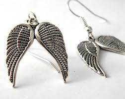angel wing earrings angel wings earrings etsy