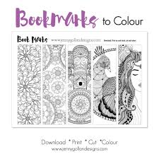 colour your own bookmarks