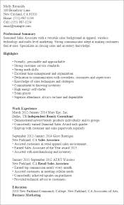 Sample Resume Summaries by Professional Sales Associate Templates To Showcase Your Talent